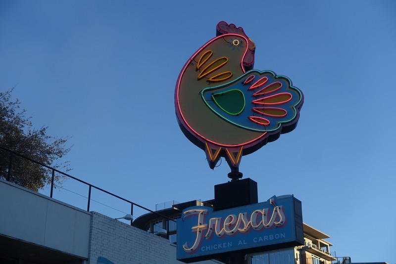 Every city needs a good local fried chicken spot, Austin has many. Fresa's is take out only and is just a block from the Hope Outdoor Gallery, making it a popular spot with the picnickers.