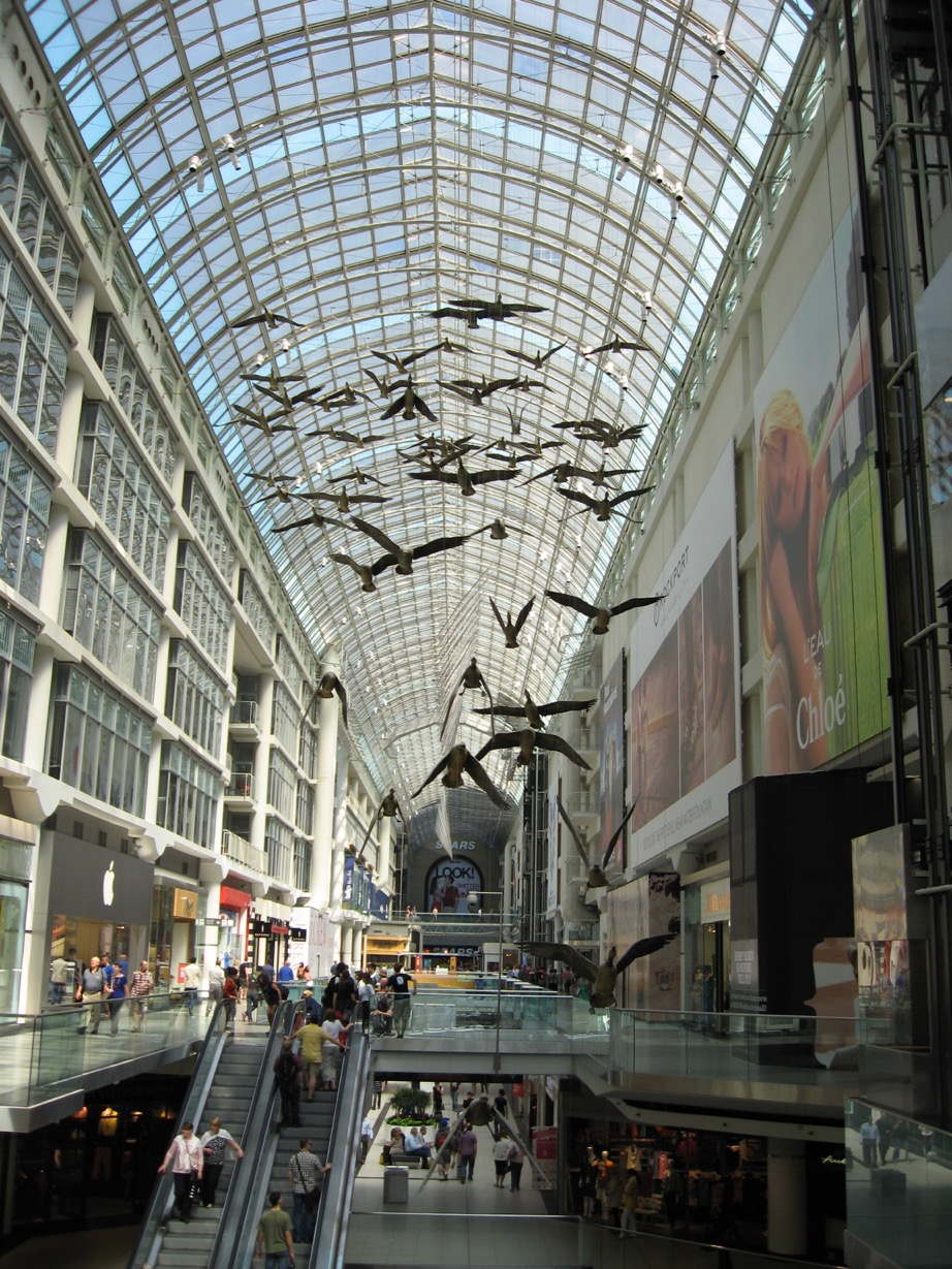 Eaton's Centre in Toronto is a major tourist attraction.
