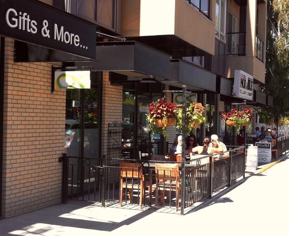 Notable restaurant patio in northwest's Montgomery community.