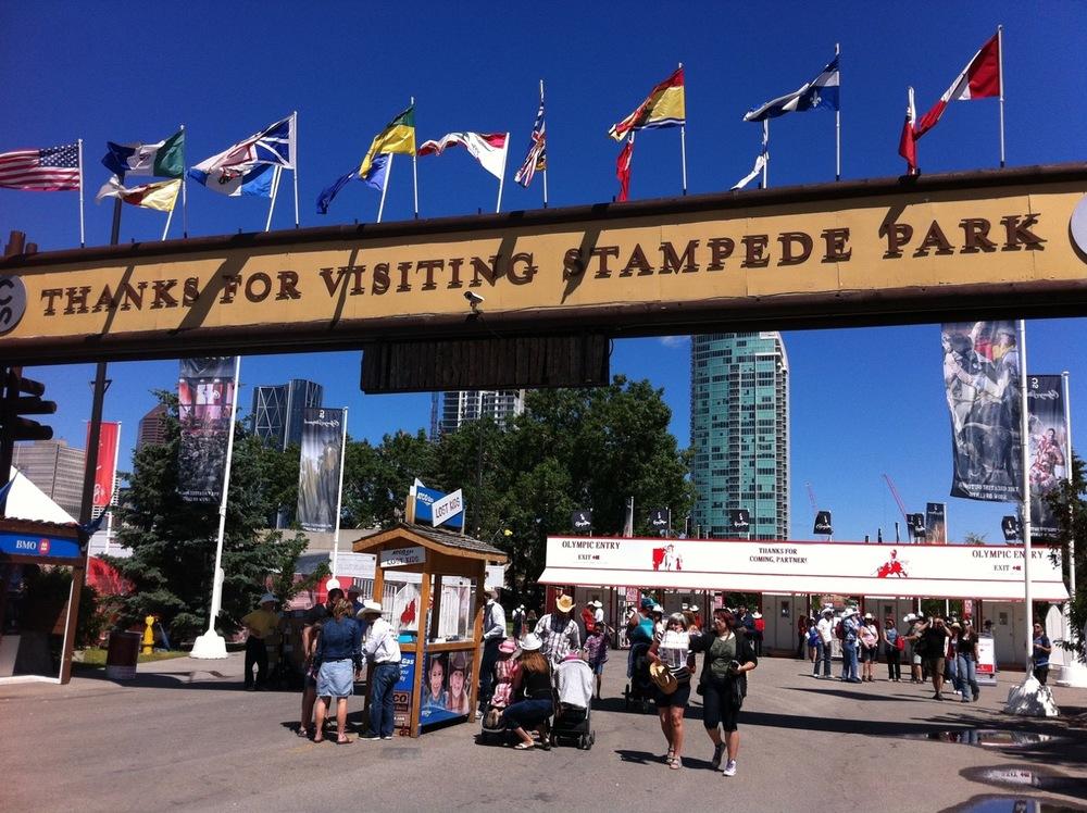 Stampede Park entrance on 4th St SE, aka Olympic Way.