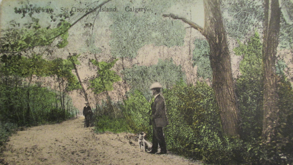 Lover's Lane in St. George's Island, Calgary, 1909
