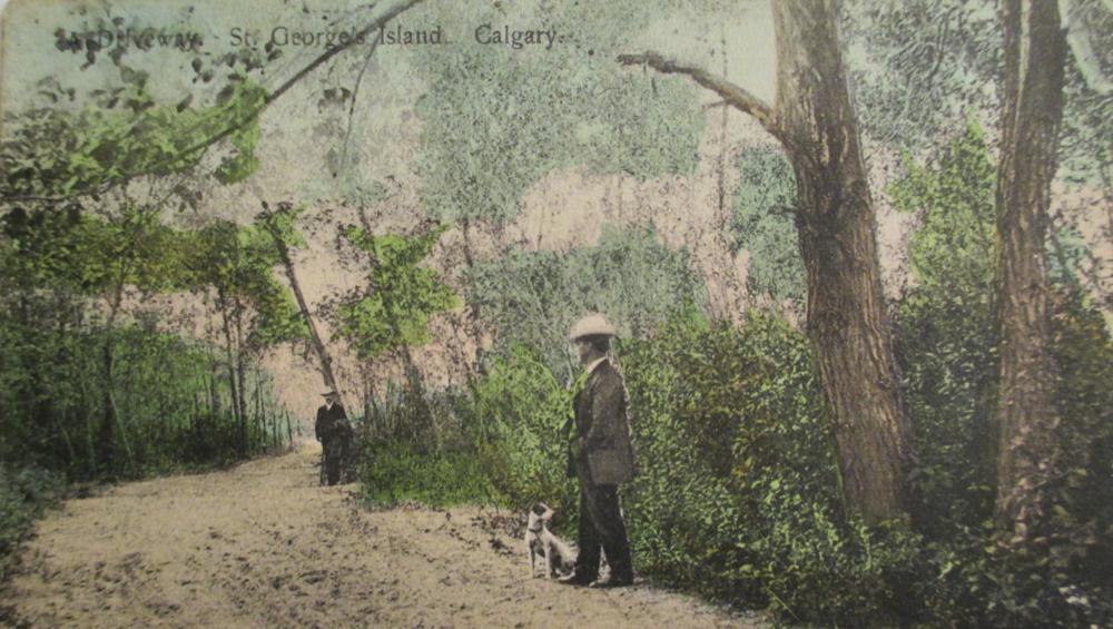Lover's Lane in St. George's Island, Calgary, 1909