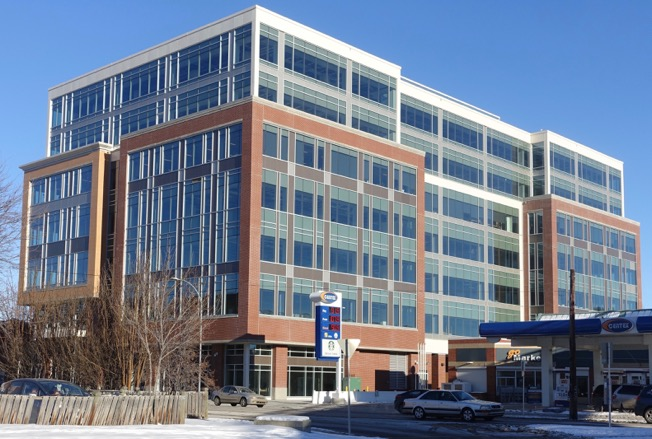 Mid-rise office buildings are also important for creating vibrant urban communities. Meredith Block Edmonton Trail at Memorial Drive.