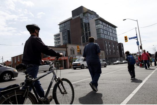 "Allowing development of more mid-rise condos along transit corridors in the GTA would open affordable home-ownership options and help revitalize commercial ""dead zones,"" a new report says. (Toronto Star)  Avenues and Mid-Rise Study City of Toronto Report"