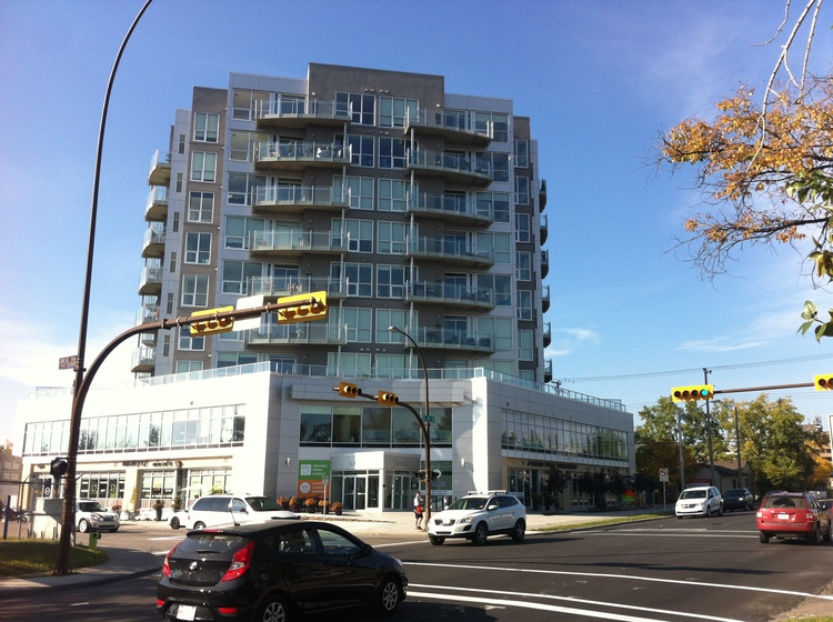 Casel condo with ground floor retail and second floor office is locates on 17th Avenue SW at the entrance to Crowchild Trail. It is pioneered mid-rise condo development west of the City Centre.