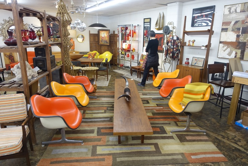 Uptown Modern has a wonderful collection of vintage furniture, home accessories and art.
