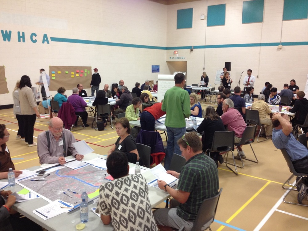 One of thousands of public open houses and workshops held every year in Calgary to engage the public in how their city should evolve short and long term, big and small projects.