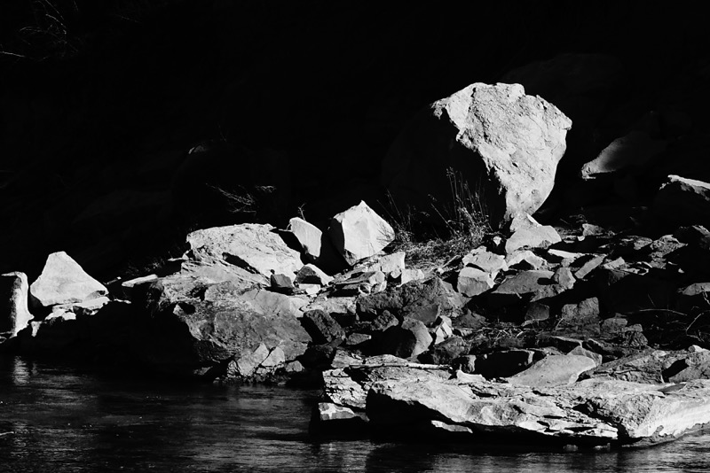 These rocks haunted me with the way the light was reflecting off of them.
