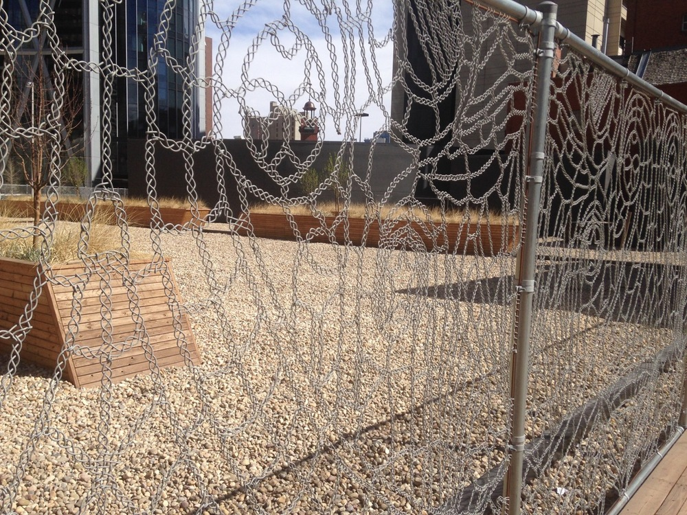 I am always amazed at what new things I can find when wandering downtown. This fancy fence is part of a temporary plaza on top of the underground parkade where the York Hotel use to sit. The patterns on the fence are taken from the decorations on the facade of the hotel.