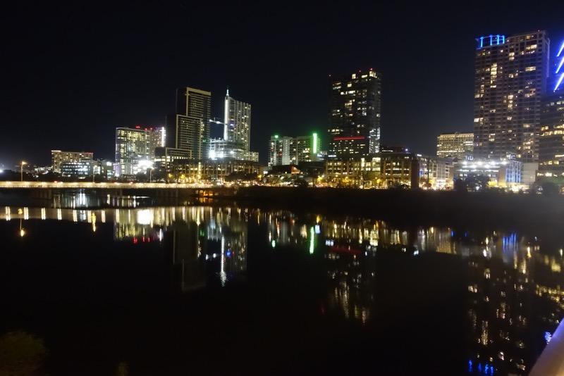 Austin's downtown condo skyline at night.