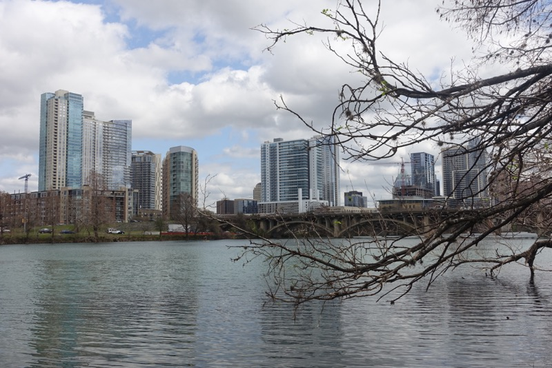 Austin's downtown skyline is dominated by condo towers.