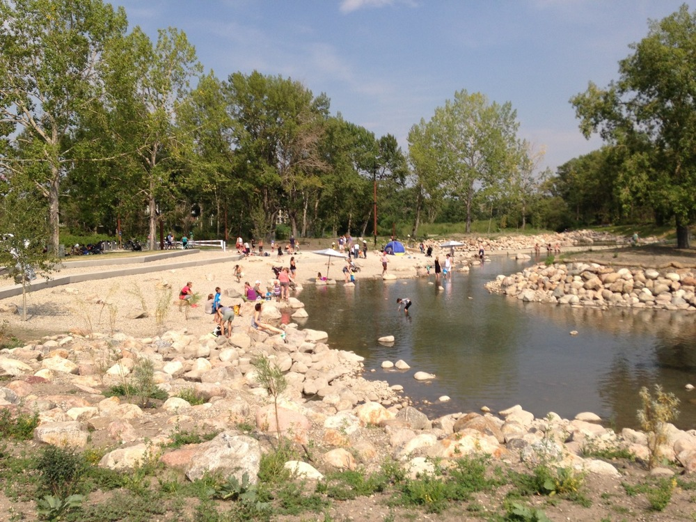 St. Patrick's Island in East Village is quickly becoming a popular hang-out spot for families in Calgary.