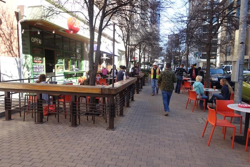 Austin's 2nd Street retail streetscape.