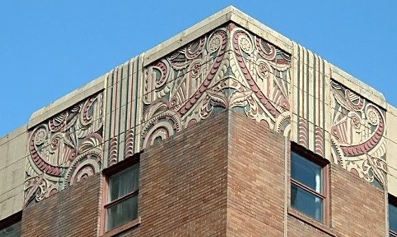 Detail of York Hotel's decorative elements. (photo credit: Canadian Architectural Archives)