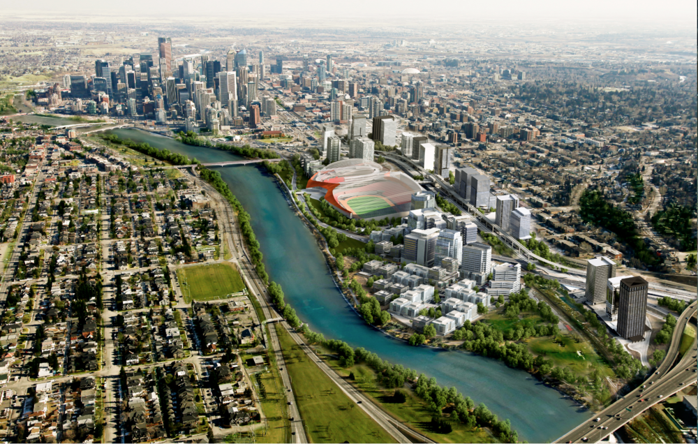 CalgaryNext is a proposed arena, stadium and fieldhouse at the western edge of Calgary's downtown.
