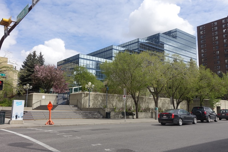 City Hall Parkade is invisible from Macleod Trail.  It is also sadly closed after hours and on weekends. The City of Calgary should be a leader in keeping downtown public spaces open on the weekends.