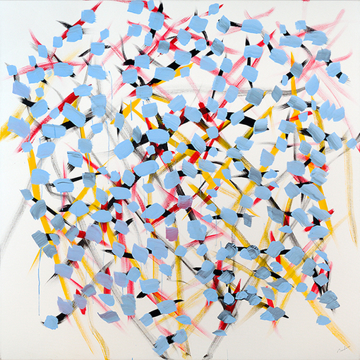 Trepanier Baer Gallery's  feature exhibition is Marcel Barbeau: Amour champagne et autre choses.