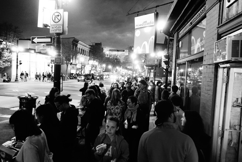 It is indeed a crawl along the James Street South's sidewalks during Art Crawl.