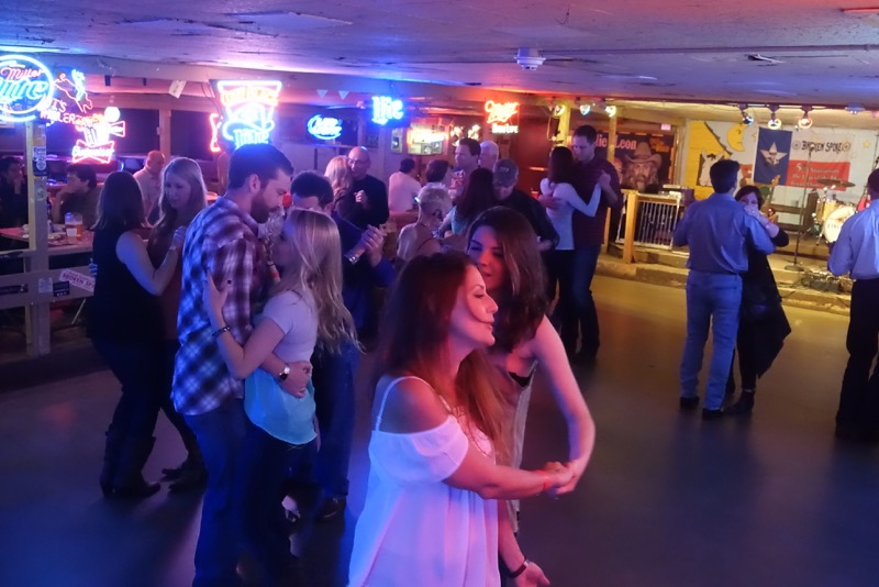 Austinites love to dance - as soon as the music starts people get up and dance.