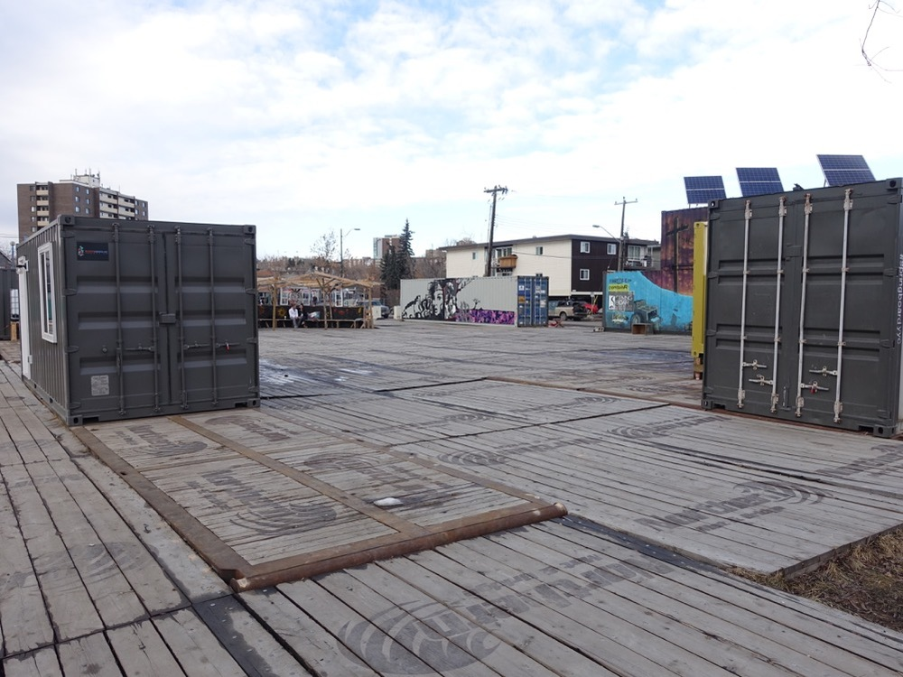 containR site is used for a variety of art events.