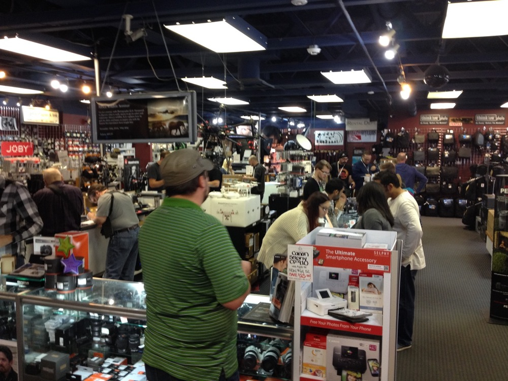The Camera Store is always bustling with people, the staff are friendly and knowledgeable.