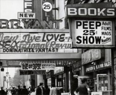 "In the '60s and '70s the area around Times Square was a ""no go"" zone for tourists and locals. (photo credit: Ilana Galed)"