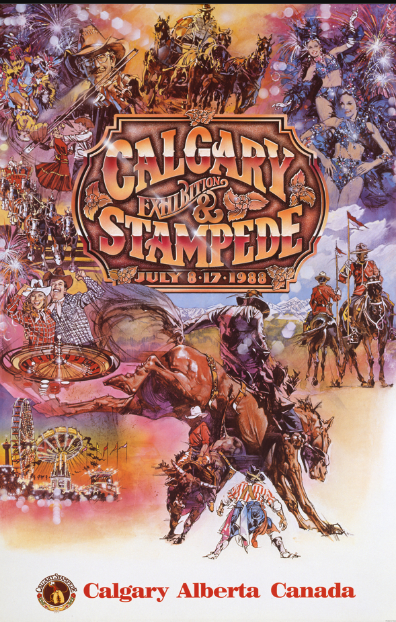 Calgary Stampede Poster 1988