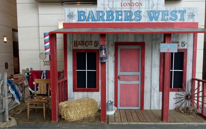We thought wouldn't it be great to get a hair cut and shave for 10 cents. Turns out you can during Stampede at EAP.