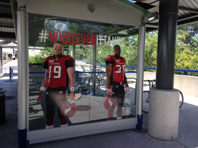 "From a distance these cutouts look like real players. Kudos to those responsible for this initiative.  I love the hashtag ""whatever it takes"" and think it could be expanded to apply to Calgary in general."
