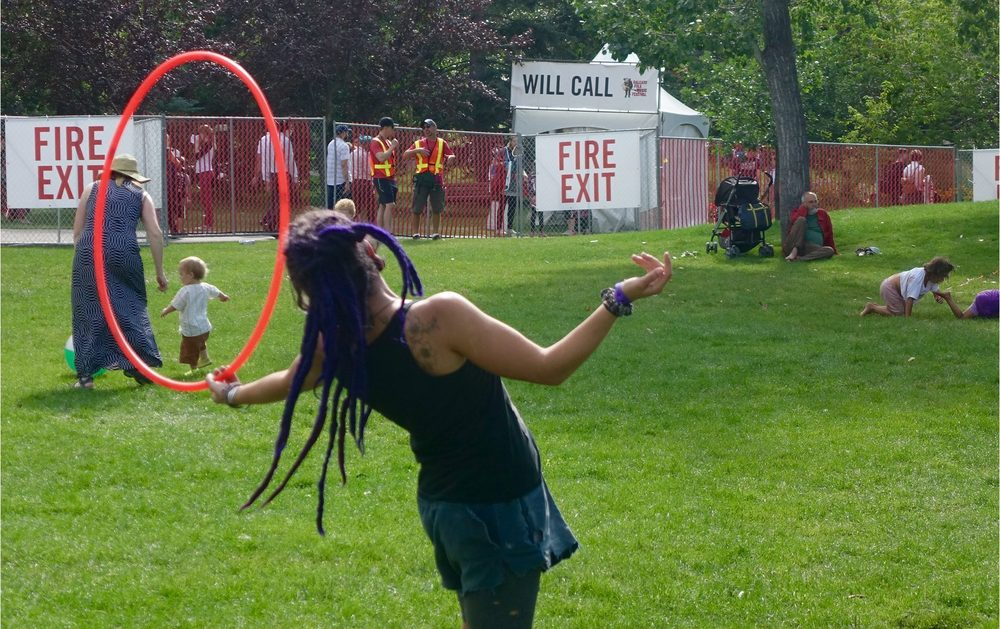 There were a lot of hola hoops at the festival....hmmmm...perhaps a Hola Hoop Festival would be a good idea?