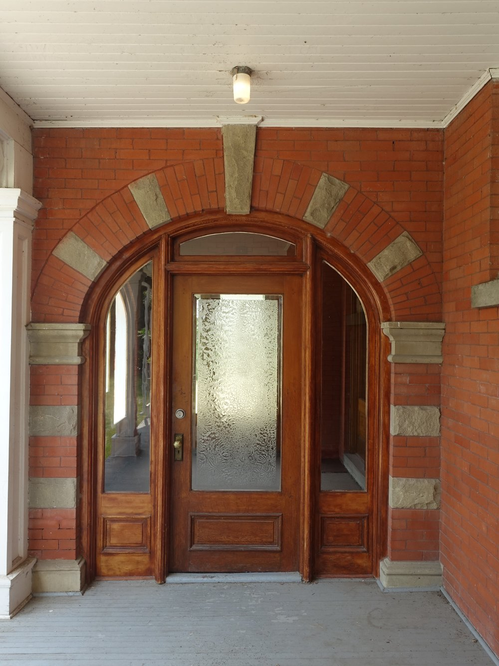The front porch helps to create a welcoming entrance.