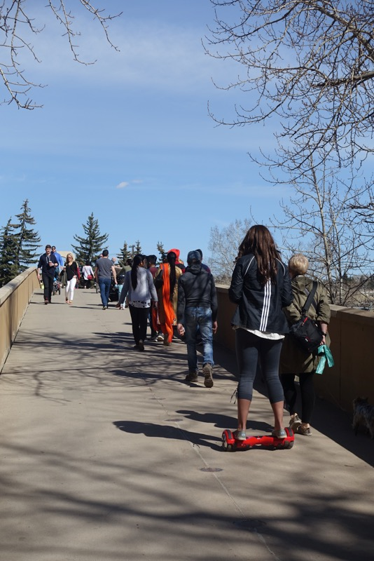 Calgarians from all walks of life use the Boothman bridge.
