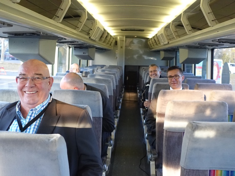 Everyone was all smiles for the On-It Calgary Region Transit Preview.