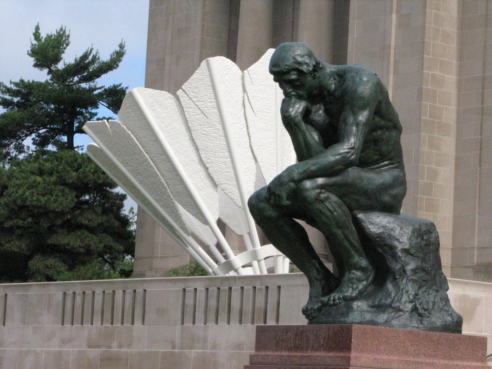 The Thinker thinks about badminton?