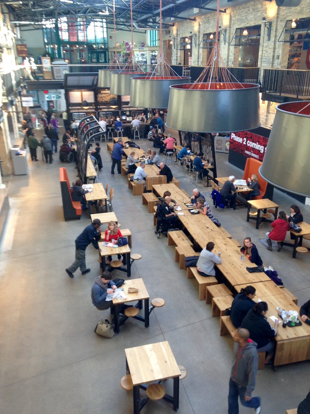 The Market at The Forks is part food court (main floor), part retail space (second floor).