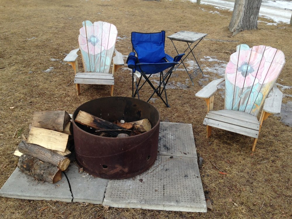 It is a shame this DIY fire pit has to be removed from a local park in Calgary.  Shouldn't we be encouraging this?