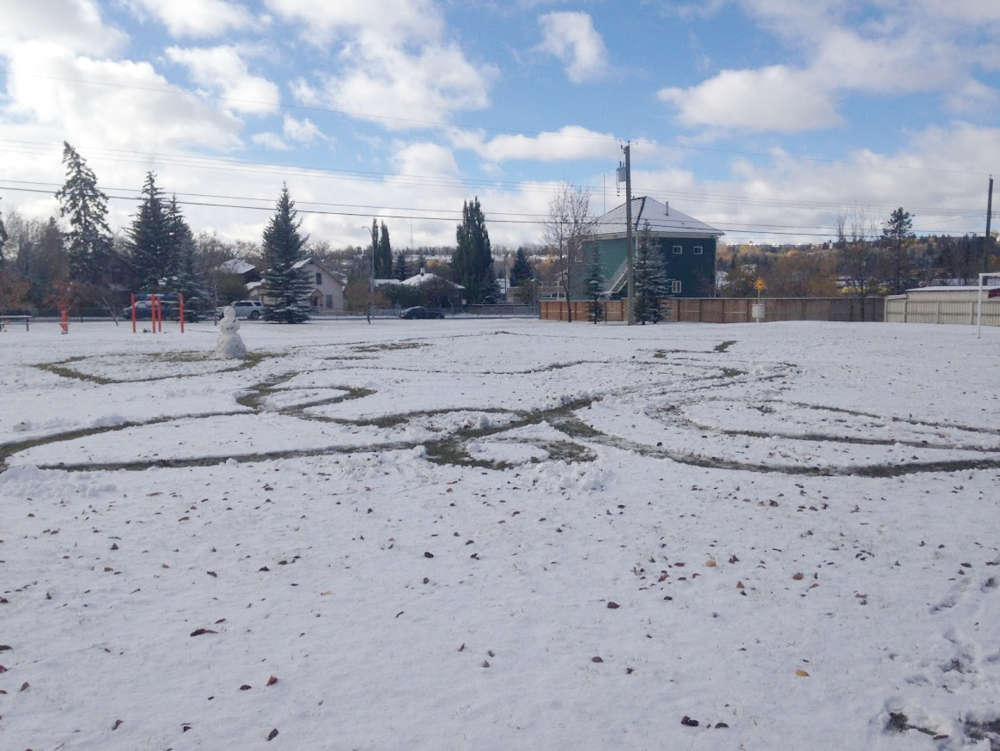 Instead of expensive festivals with fixed dates, why not develop impromptu winter festivals when the snow allows for it.  What about a snowman making weekend? This was on Oct 9th 2016, the early snow was perfect for snowman making and creating a maze the kids loved making and walking through.  DIY and KISS should be part of any winter design and programming plan.