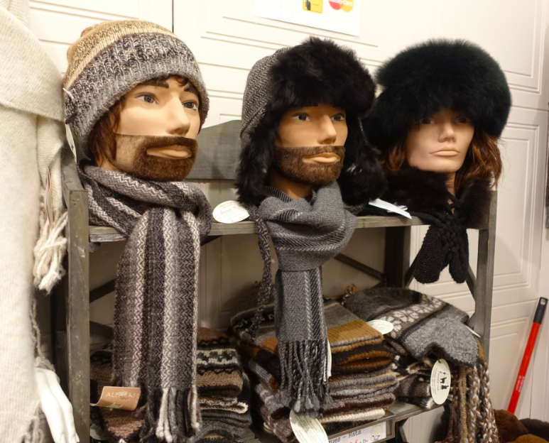 These hipster heads brought a quick smile to my face. Montrealers love their winter hats and scarfs.