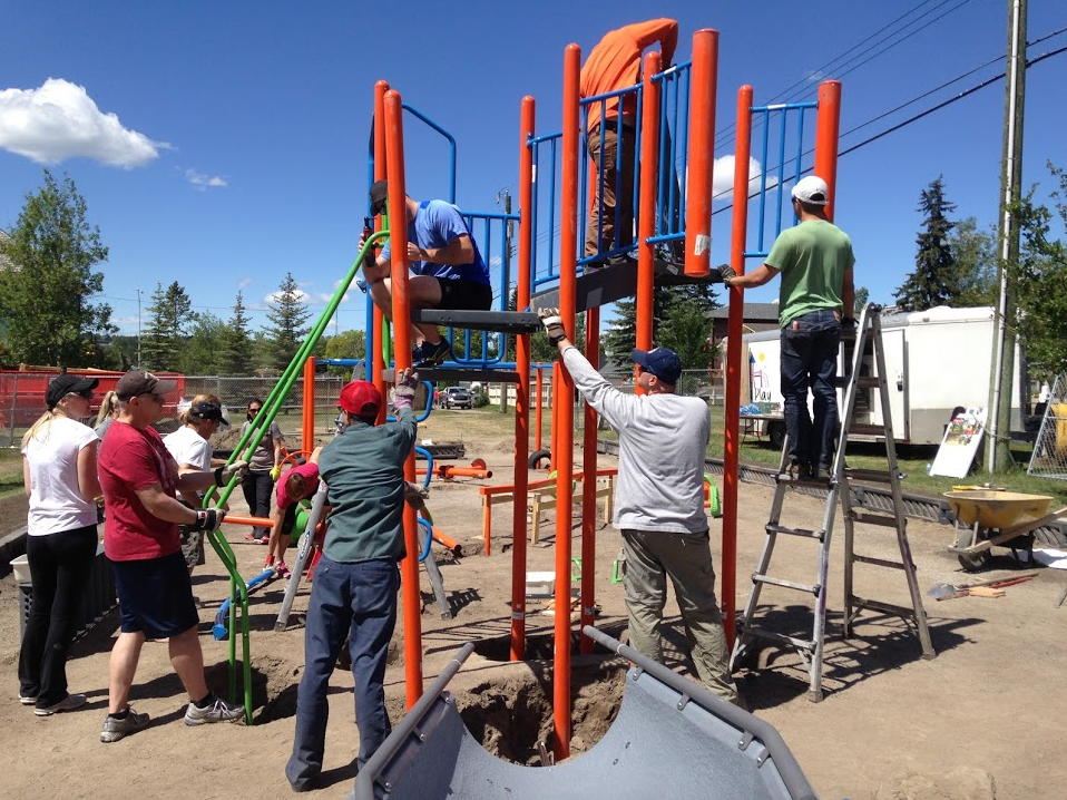 """2016 was the year of the playground for me. I developed a whole new appreciation for the importance of playgrounds in community building. We installed a new playground at the Grand Trunk Park across the street from our house and it is true """"if you build it they will come."""" In the 20+ years we have lived in our house we have never seen so many kids at the playground. Link: The End Of The Grand Trunkers' Playground Envy!"""