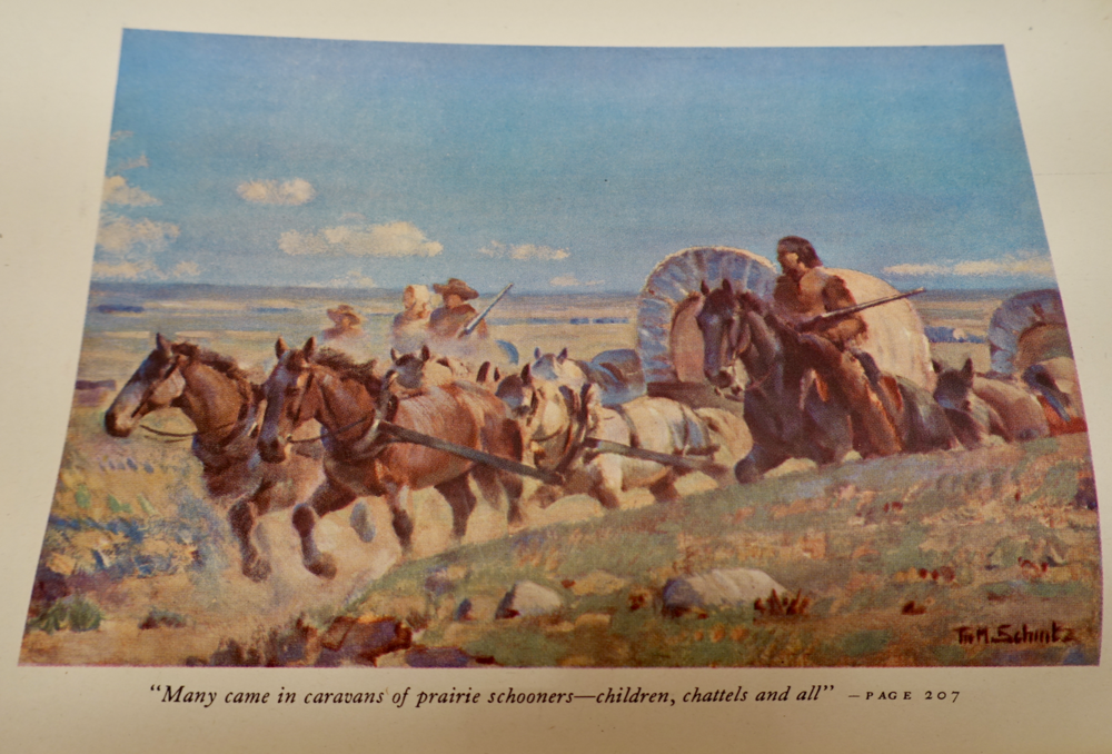 painting by T.M. Schintz,  High River, Alta., 1941