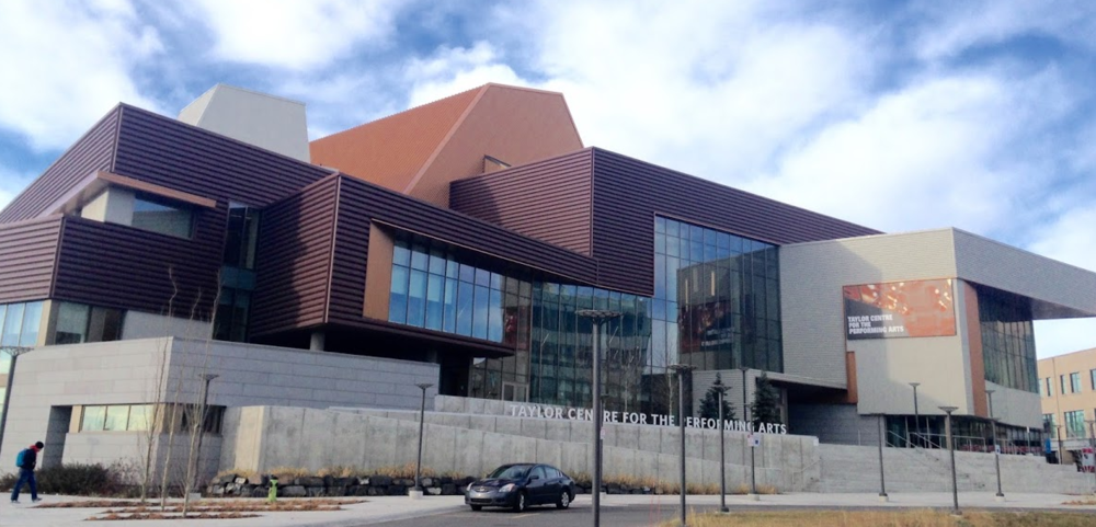The Taylor Centre For The Performing Arts at Mount Royal University includes the Bella Centre as well as teaching and practice spaces.
