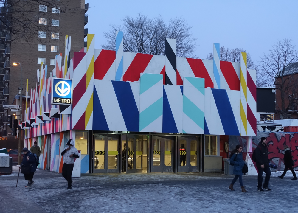 Even Montreal's Metro Stations are colourful and playful.