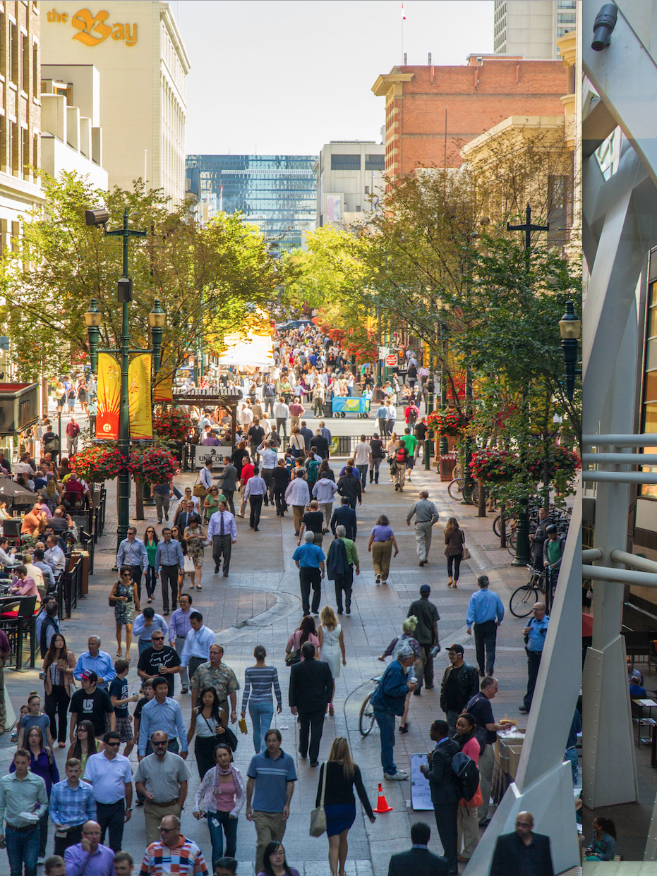 When the weather is nice, Stephen Avenue is a fun place to stroll and people watch.