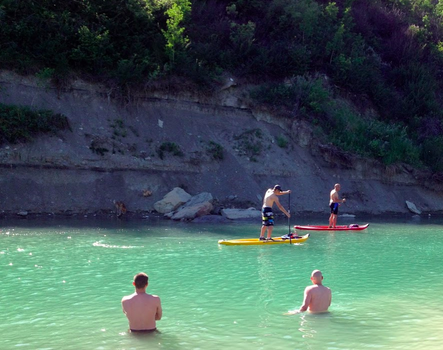 Calgary's Elbow River is a popular padding, rafting and swimming spot.