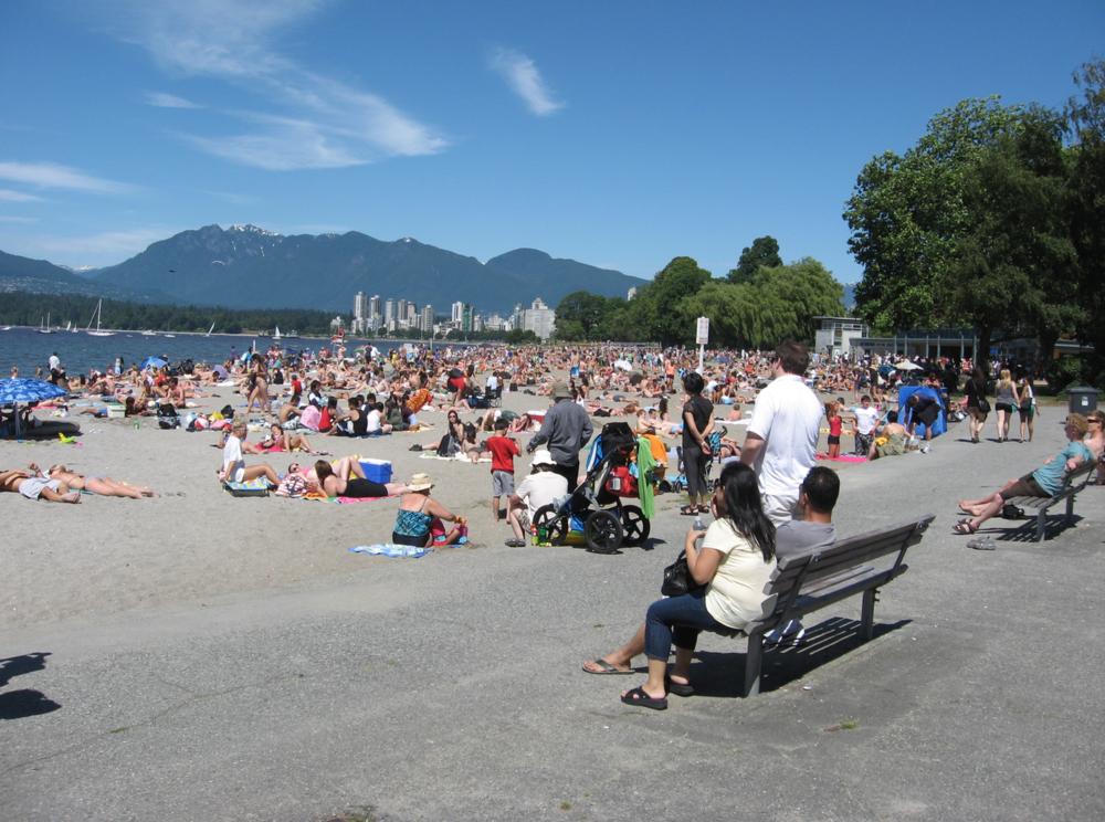 Vancouver's beach life.