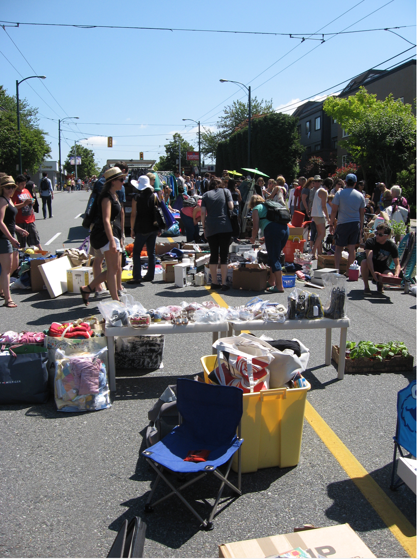 An impromptu Vancouver street market / garage sale that we stumbled into was too much fun.