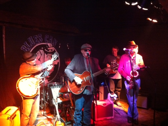 Tim Williams and friends at the Blues Can in Inglewood, one of Canada's best communities.