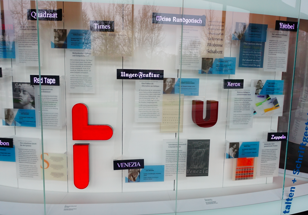 Loved this display tracing the history of different fonts.