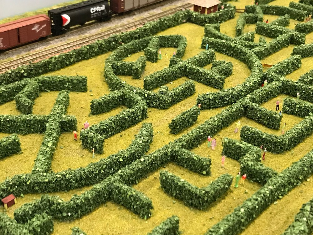 This maze had the smallest people I have ever seen in a model.  I couldn't help but wonder if the designers of this model making a statement about modern life?
