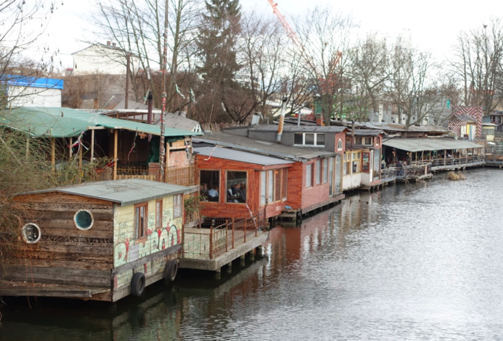 What looks like a shanty town by Calgary urban aesthetics, is in reality a popular restaurant/bar district along one of Berlin's canals.  Berlin's bohemian grass-roots creative-class culture is the opposite of Calgary's conservative, corporate culture.